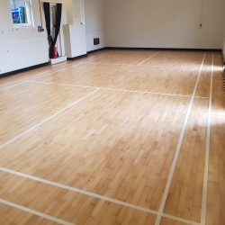 village hall floor sanding